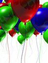 Colorful 3d Balloons Stock Photography