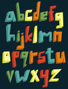 Colorful 3d lower case alphabet Royalty Free Stock Images
