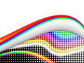 Colorful 3ds lines,  background Stock Photos
