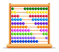 Colorful abacus with wooden frame