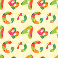 Colorful abc seamless pattern background wallpaper Royalty Free Stock Photo