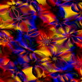 Colorful Abstract Art Background. Computer Generated Floral Fractal Pattern. Digital Design Illustration. Creative Colored Image. Royalty Free Stock Photo