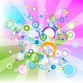 Colorful abstract background with circles Royalty Free Stock Photo
