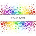 Colorful abstract background of colorful dots, circles with place for your text. Royalty Free Stock Photo
