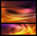 Colorful abstract background set of two backgrounds Stock Image