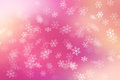 Colorful abstract background with snow flake falling Stock Image