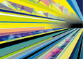 Colorful Abstract Background with Subway Tunnel Royalty Free Stock Photos