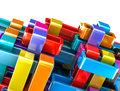 Colorful abstract blocks background Stock Photo