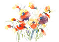 Colorful abstract blossom flowers