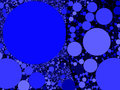 Colorful abstract blue circles background illustration Royalty Free Stock Photo