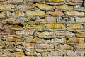 Colorful Abstract Brick Background from Old Building II Royalty Free Stock Photo