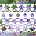 Colorful abstract bright pattern triangular retro floral Royalty Free Stock Images
