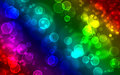 Colorful abstract bubbles background illustrator design spectrum Royalty Free Stock Photo