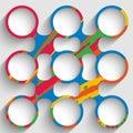 Colorful Abstract Circular Obj...