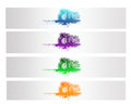 Colorful abstract city vector banner and backround Royalty Free Stock Photo