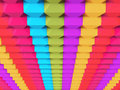 Colorful Abstract 3d Blocks Background Royalty Free Stock Photo