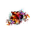 Colorful abstract design on a white