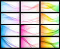 Colorful Abstract Floral Wave Background Royalty Free Stock Photography