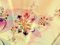 Colorful Abstract Flower Fractal Background Royalty Free Stock Images