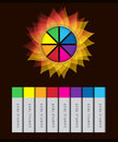 Colorful abstract flower infographic vector info graphic elements Stock Photo