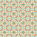 Colorful abstract flower petals in retro style vintage seamless pattern Royalty Free Stock Photo