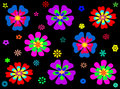 Colorful abstract flower seamless pattern background