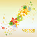 Colorful abstract flower vector background for card design Royalty Free Stock Images