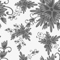 Colorful abstract flowers on a white background seamless pattern vector illustration