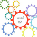Colorful abstract gears vector background Royalty Free Stock Photo