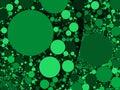 Colorful Abstract Green Circle...