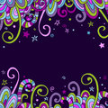Colorful abstract hand-drawn banner Royalty Free Stock Photo