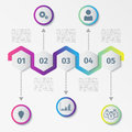 Colorful Abstract hexagon infographics or timeline template. Vector illustration.