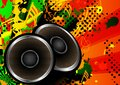 Colorful abstract music speaker design vector background Royalty Free Stock Photo