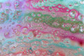 Colorful Abstract Oil on Water Bubble Fizzy Background Royalty Free Stock Photo