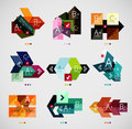 Colorful abstract option banner templates set Royalty Free Stock Photography