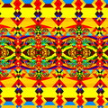 Colorful Abstract Pattern. Geometric Background Art. Digital Fractal Illustration. Chaotic Decorative Image. Wallpaper.