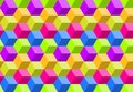 Colorful abstract polygon background, seamless geometric digital mosaic pattern