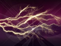 Colorful abstract psychedelic lightning with deep purple sky Royalty Free Stock Photo
