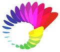 Colorful abstract rainbow design element Stock Photo
