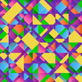 Colorful Abstract Retro Triangular Pattern Poster Stock Photo