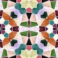 Colorful abstract seamless kaleidoscope texture with colorful ornaments
