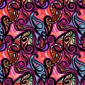 Colorful abstract seamless paisley pattern model for design of gift packs patterns fabric wallpaper web sites etc Royalty Free Stock Image