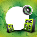 Colorful abstract speakers background. Stock Photography