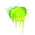 Colorful abstract watercolor background yellow light green. Vector Royalty Free Stock Photo