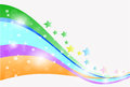 Colorful abstract wave vector backround Royalty Free Stock Photography