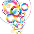 Colorful abstract wheel Royalty Free Stock Photos