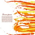 Colorful abstract yellow and orange splashes and spatters modern creative background for trendy design vector illustration Royalty Free Stock Images
