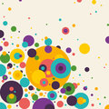 Colorful abstraction abstract composition with circles Stock Photos