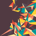 Colorful abstraction with angular shapes Royalty Free Stock Photos
