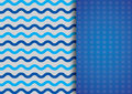 Colorful abstruct background blue and ciel wave lines and a rectangle with grey dots Royalty Free Stock Image